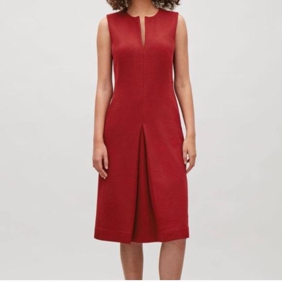 c1c3bfa1bd0 COS Dresses   Skirts - COS pleated front ponte midi dress